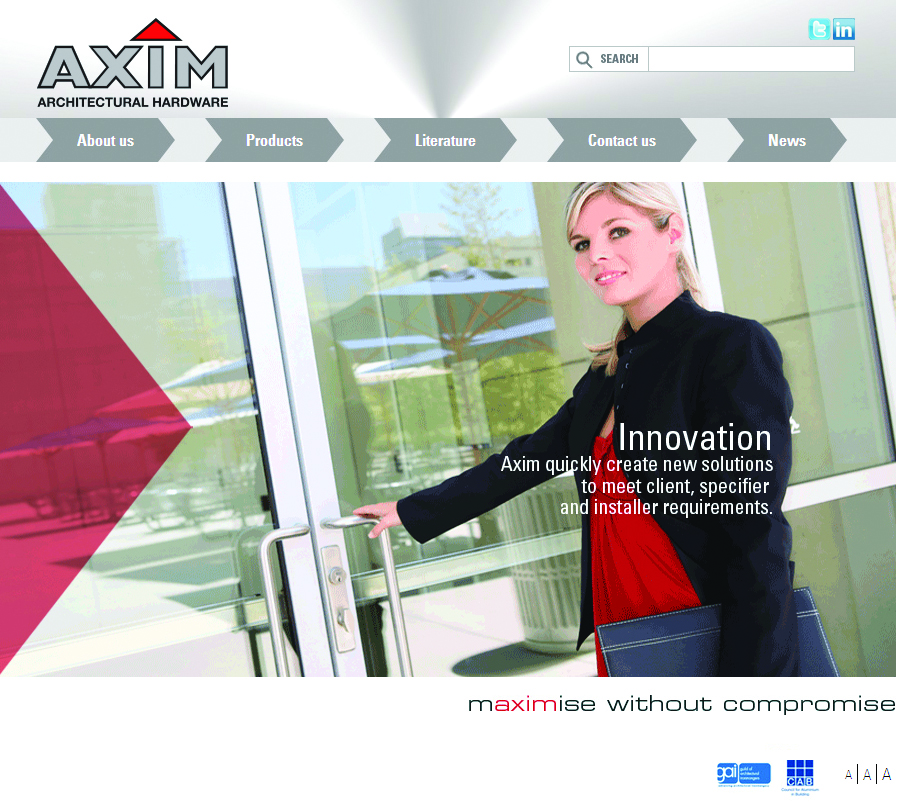 Axim Website Relaunch